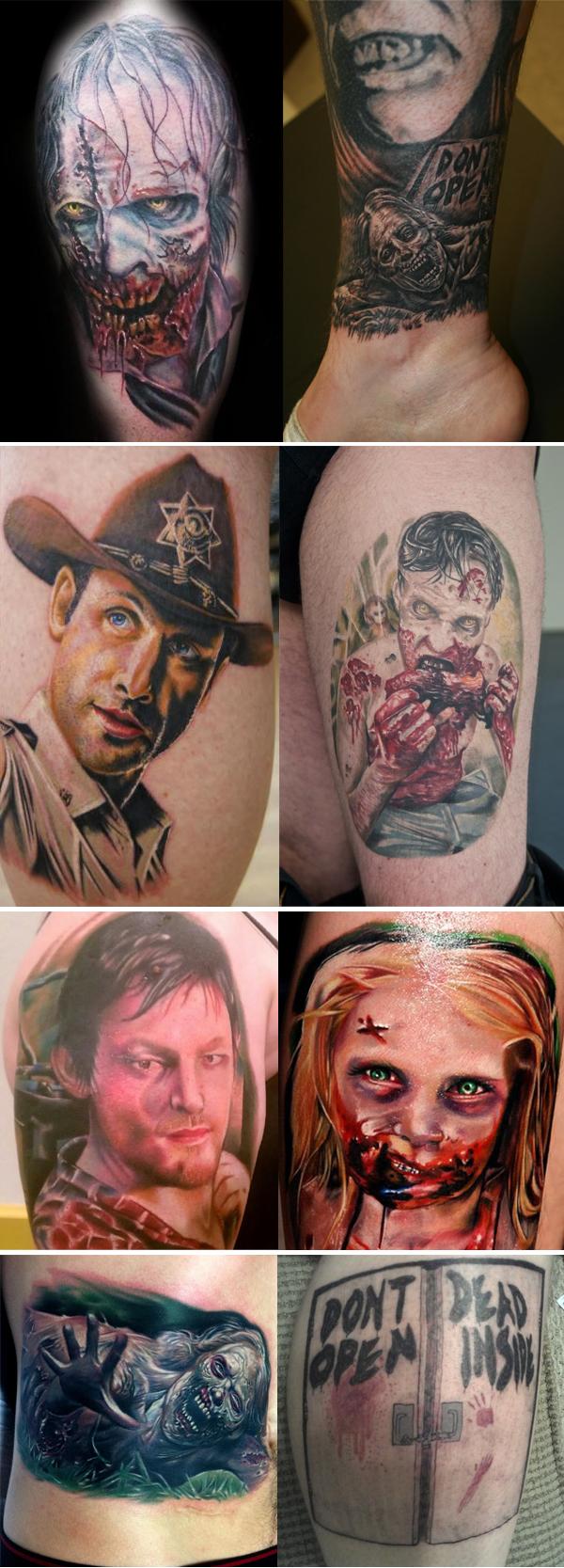 Tatuagens inspiradas em The Walking Dead