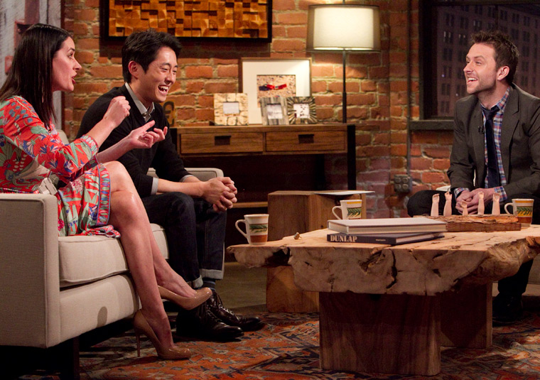 Talking Dead retorna no domingo e Kevin Smith e Steven Yeun serão os convidados