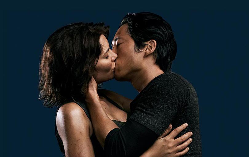 The Walking Dead Quarta Temporada: Glenn e Maggie se beijam em GIF e foto exclusiva