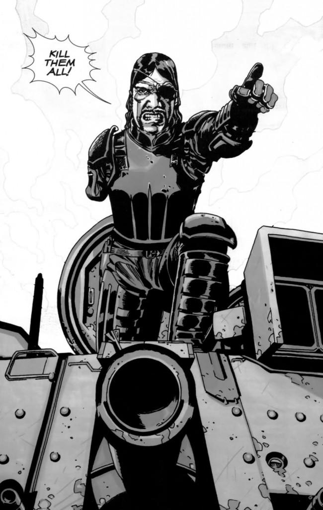 Quadrinhos de The Walking Dead - Tanque do Governador