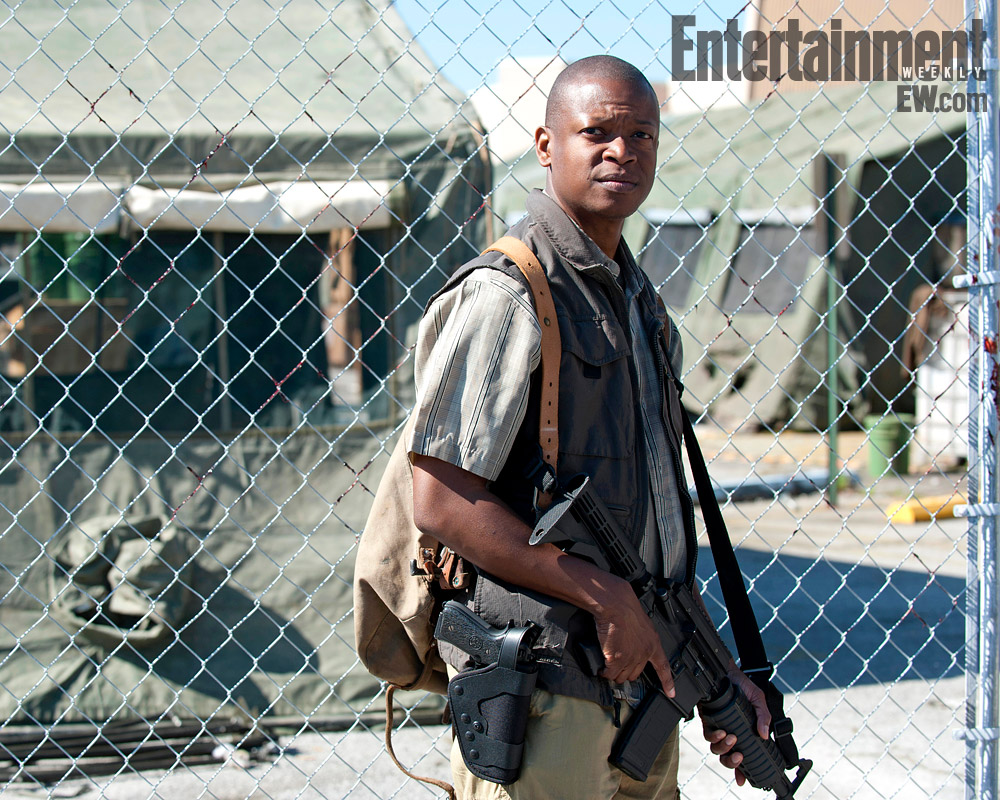 Lawrence Gilliard, Jr. actor. Season 4, The Walking Dead.