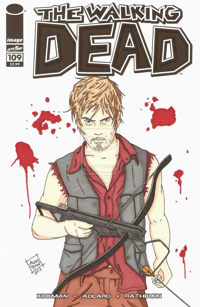 Fanart - Daryl Dixon The Walking Dead Quadrinhos