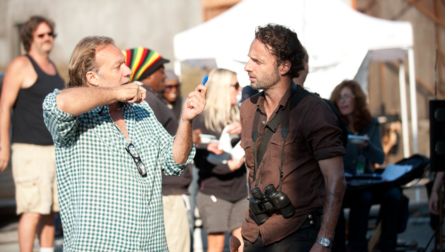 Greg Nicotero e Andrew Lincoln - The Walking Dead Terceira Temporada
