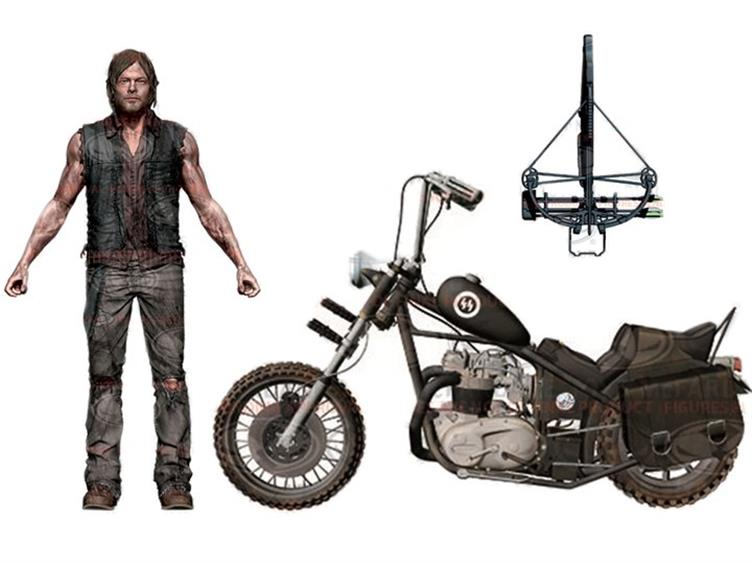 The Walking Dead TV Series - Daryl Dixon with Chopper Deluxe Boxed Set