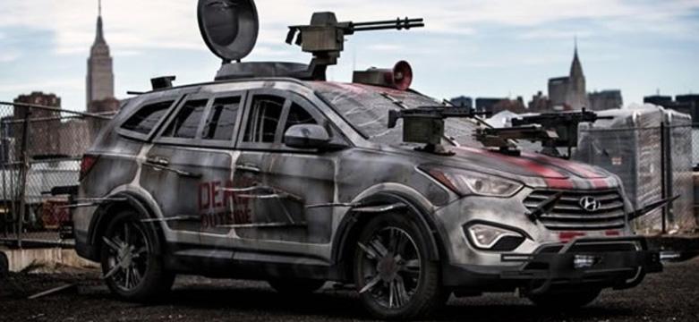 Hyundai Santa Fe pronto para o combate em caso de Apocalise Zumbi