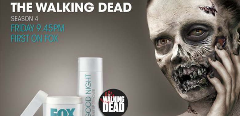 FOX Alemanha lança campanha em cosméticos para divulgar a 4ª Temporada de The Walking Dead
