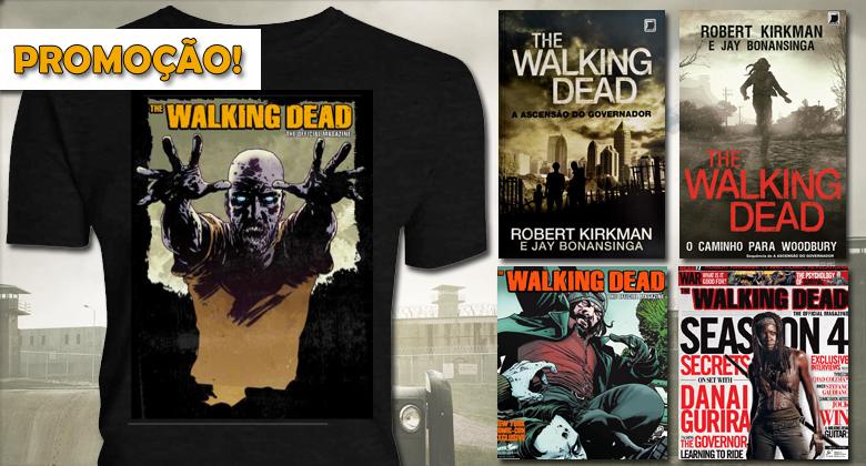 [PROMOÇÃO] Kit de The Walking Dead - Camisa, Livros e Revistas oficiais