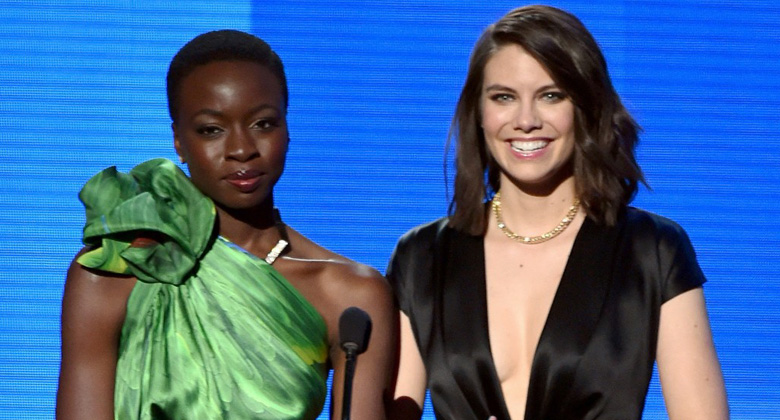 Lauren Cohan e Danai Gurira no American Music Awards 2014