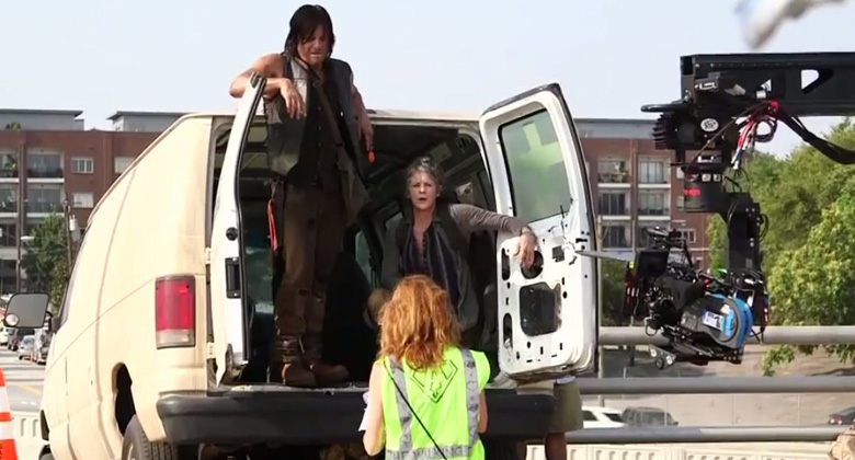 Bastidores da 5ª temporada de The Walking Dead: S05E06 -