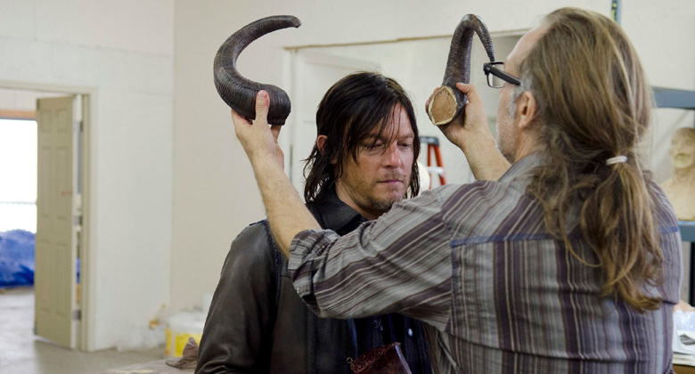O dia de Norman Reedus no set de The Walking Dead