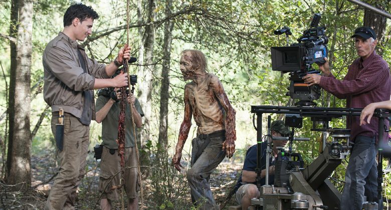 Bastidores da 5ª temporada de The Walking Dead: S05E12 -