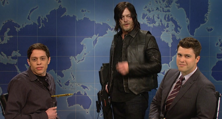 Norman Reedus faz participação especial no Saturday Night Live