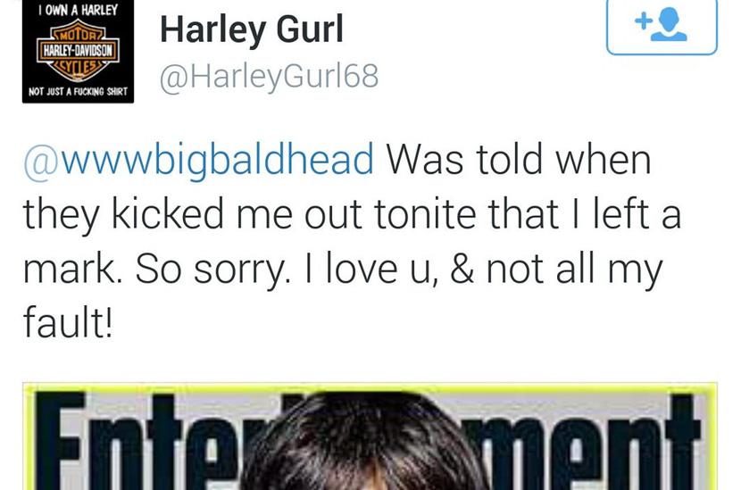 Agressora pedido desculpas ao Norman após o ocorrido via Twitter.