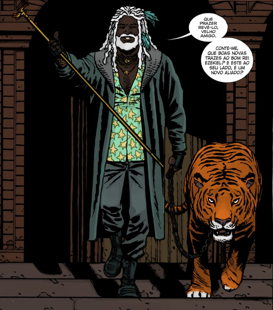 Ezekiel e Shiva - Edição 108 do HQ de The Walking Dead
