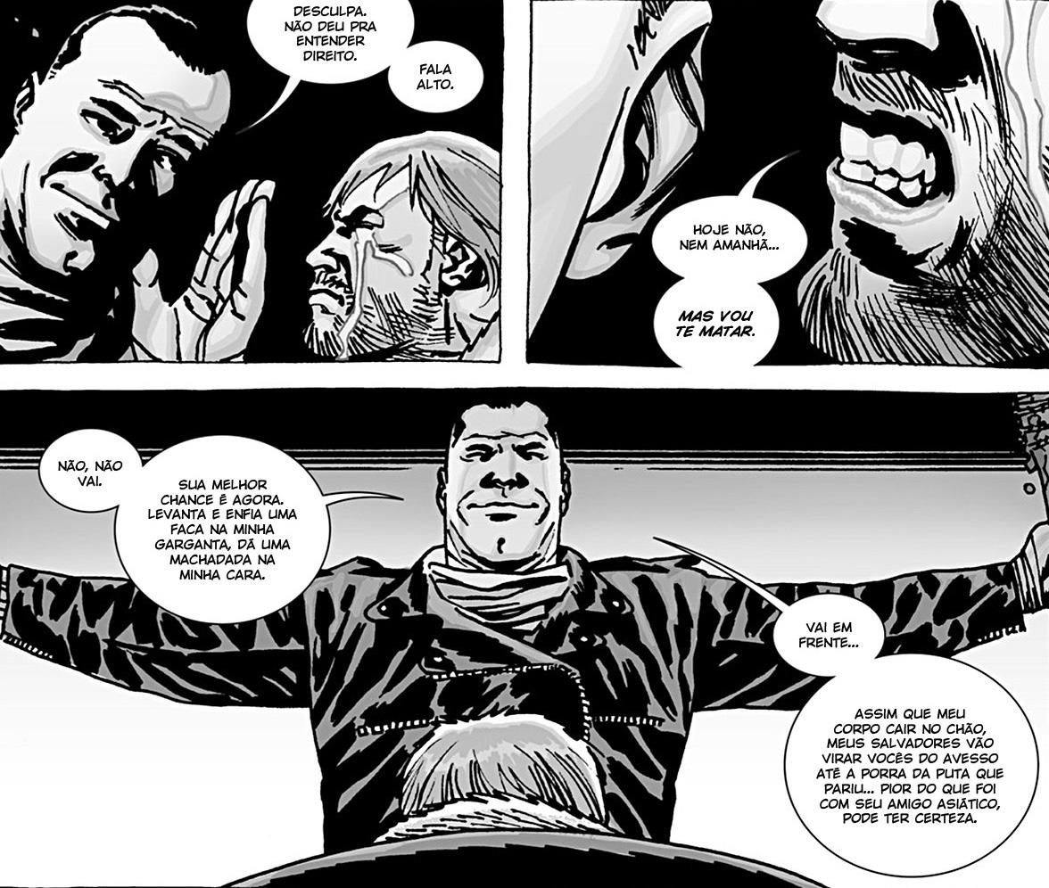 Negan e Rick - Edição 100 da HQ de The Walking Dead