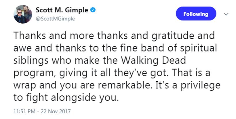 Encerradas as gravações da 8ª temporada de The Walking Dead