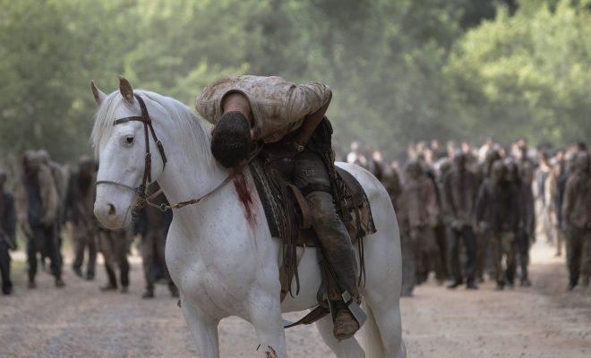 Rick tentando lutar contra a morte