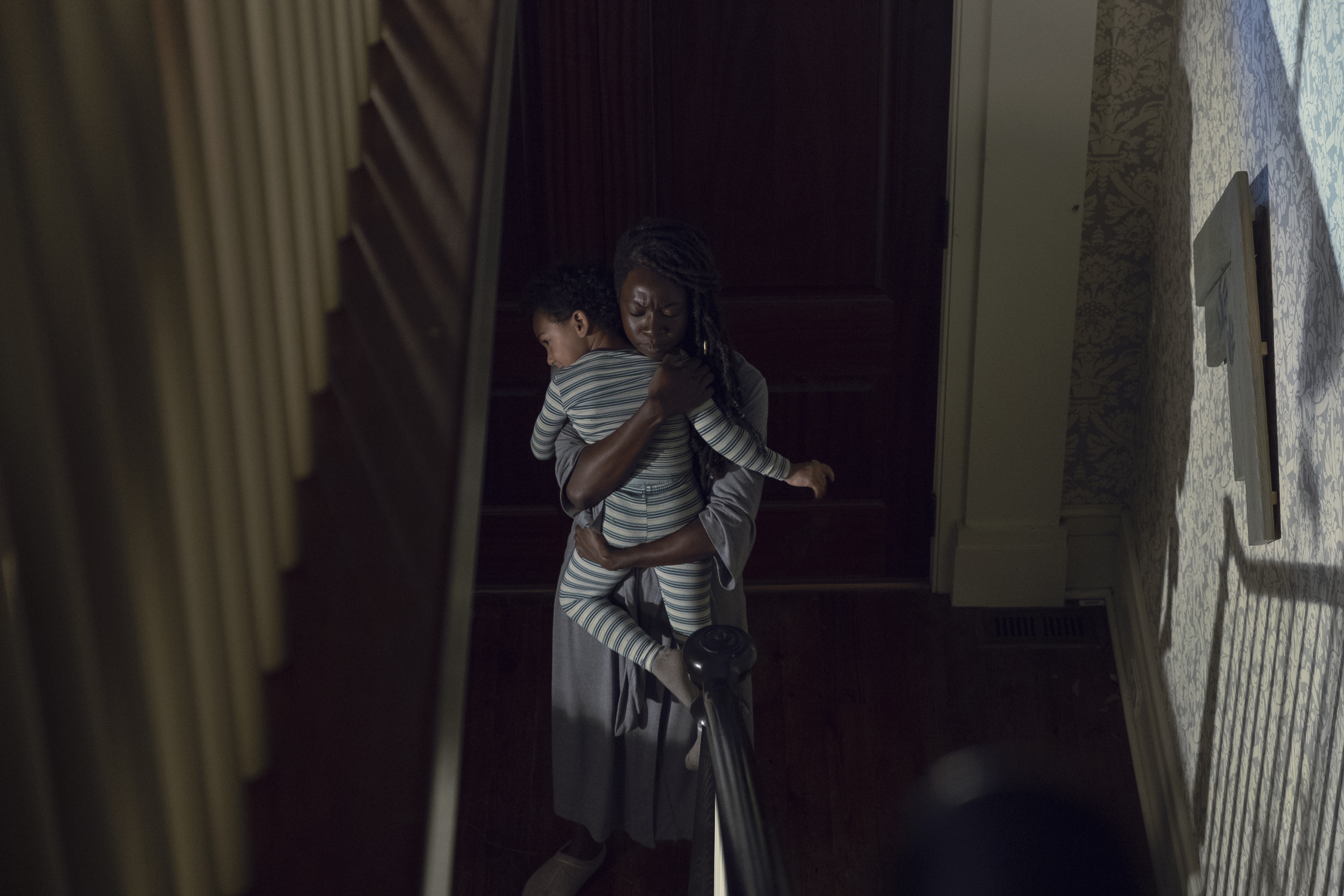 Michonne e o seu (imaginário??) pequenininho
