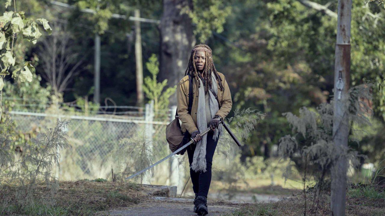 Michonne grávida em The Walking Dead