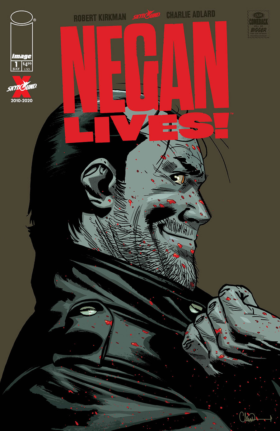 Negan na capa da nova HQ especial de The Walking Dead