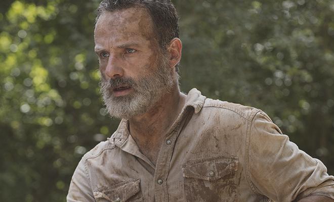 rick grimes ferido em seu último episódio de the walking dead