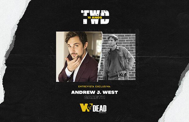 arte com Andrew J. West e Gareth para comemorar os 10 anos de The Walking Dead
