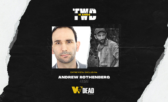 arte com Andrew Rothenberg e Jim para comemorar os 10 anos de The Walking Dead
