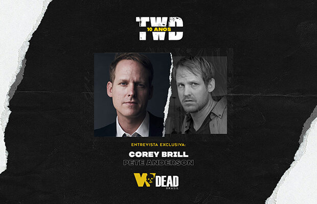 arte com Corey Brill e Pete Anderson para comemorar os 10 anos de The Walking Dead
