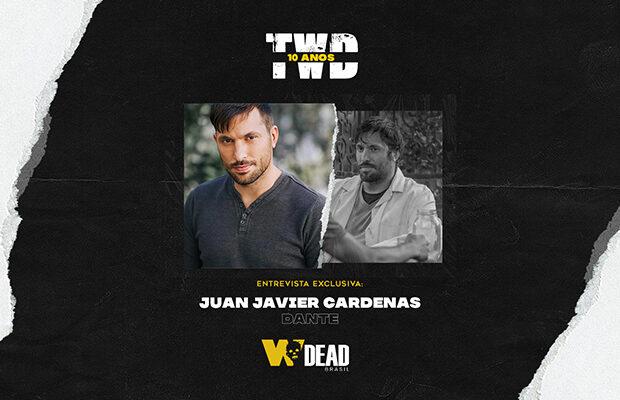 arte com Juan Javier Cardenas e Dante para comemorar os 10 anos de The Walking Dead