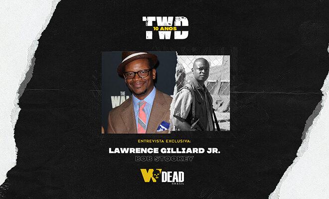 arte com Lawrence Gilliard Jr. e Bob Stookey para comemorar os 10 anos de The Walking Dead