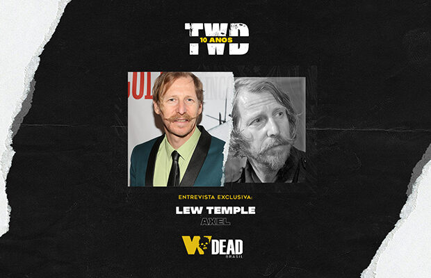 arte com Lew Temple e Axel para comemorar os 10 anos de The Walking Dead