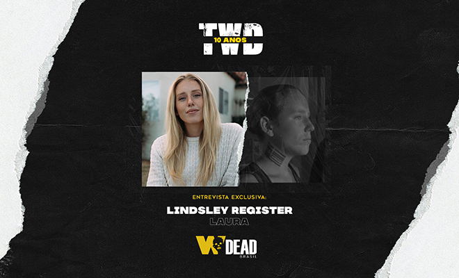arte com Lindsley Register e Laura para comemorar os 10 anos de The Walking Dead