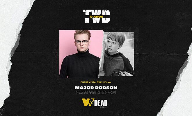 arte com Major Dodson e Sam Anderson para comemorar os 10 anos de The Walking Dead