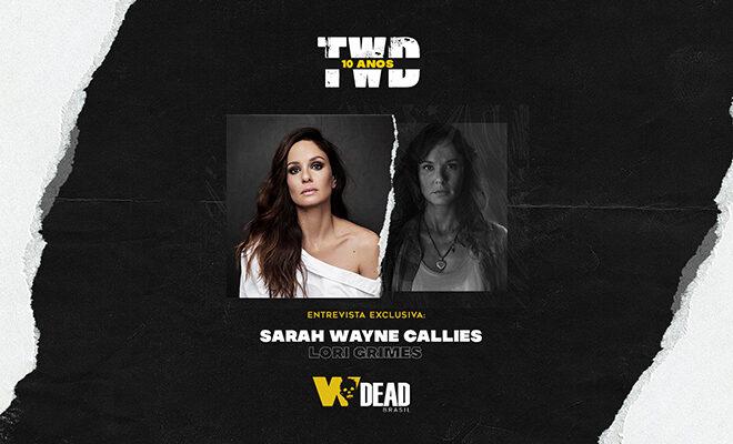 arte com Sarah Wayne Callies e Lori Grimes para comemorar os 10 anos de The Walking Dead