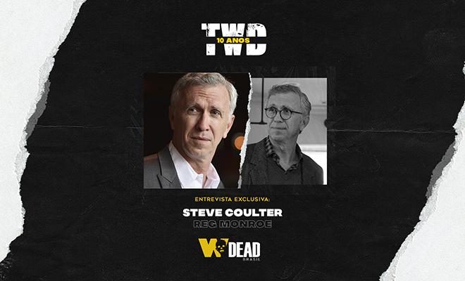 arte com Steve Coulter e Reg Monroe para comemorar os 10 anos de The Walking Dead