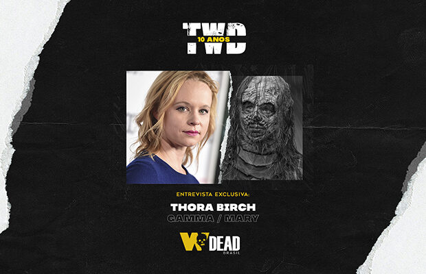 arte com Thora Birch e Gamma / Mary para comemorar os 10 anos de The Walking Dead