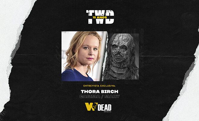 arte com Thora Birch e Gamma / Mary para comemorar os 10 anos de The Walking Dead