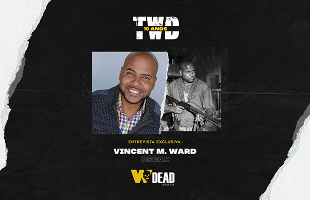 arte com Vincent M. Ward e Oscar para comemorar os 10 anos de The Walking Dead