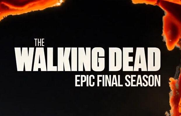 logo da temporada final de the walking dead