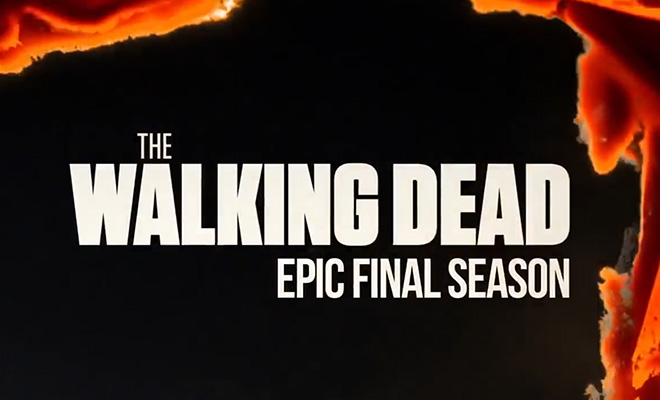 logo da temporada final de the walking dead