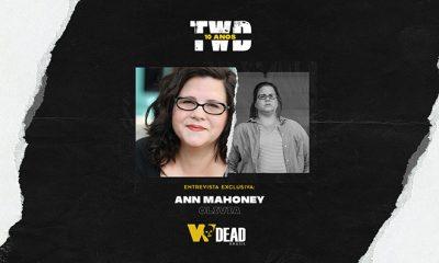 arte com Ann Mahoney e Olivia para comemorar os 10 anos de The Walking Dead
