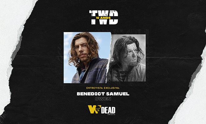arte com Benedict Samuel e Owen (Líder dos Lobos) para comemorar os 10 anos de The Walking Dead