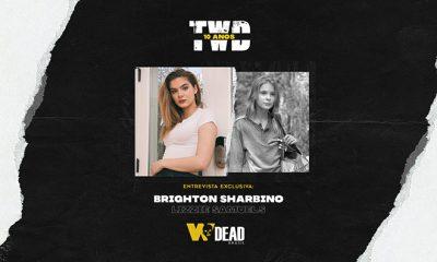 arte com Brighton Sharbino e Lizzie Samuels para comemorar os 10 anos de The Walking Dead