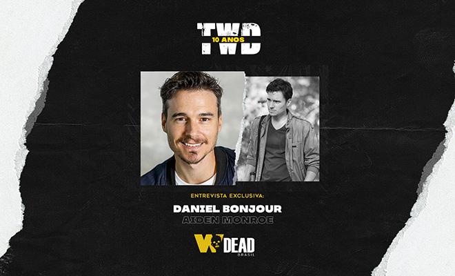 arte com Daniel Bonjour e Aiden Monroe para comemorar os 10 anos de The Walking Dead