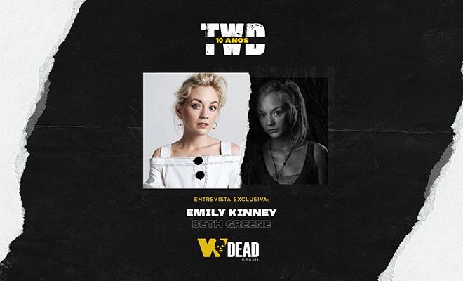 arte com Emily Kinney e Beth Greene para comemorar os 10 anos de The Walking Dead