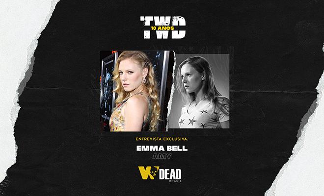 arte com Emma Bell e Amy para comemorar os 10 anos de The Walking Dead