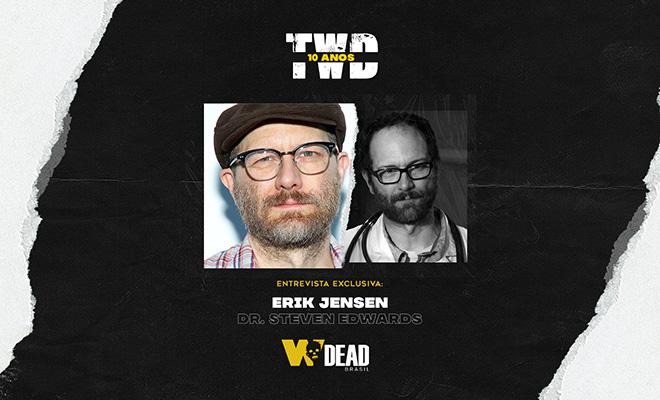 arte com Erik Jensen e Steven Edwards para comemorar os 10 anos de The Walking Dead