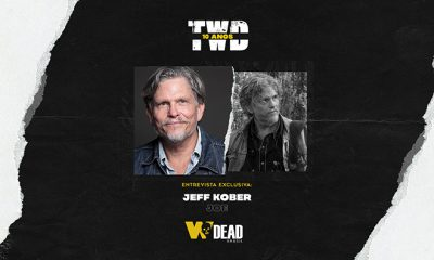 arte com Jeff Kober e Joe para comemorar os 10 anos de The Walking Dead