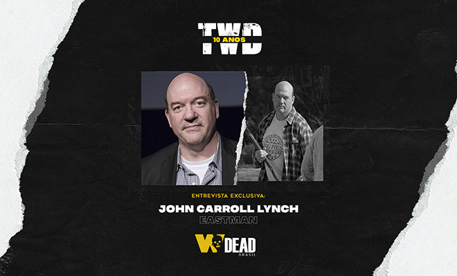arte com John Carroll Lynch e Eastman para comemorar os 10 anos de The Walking Dead