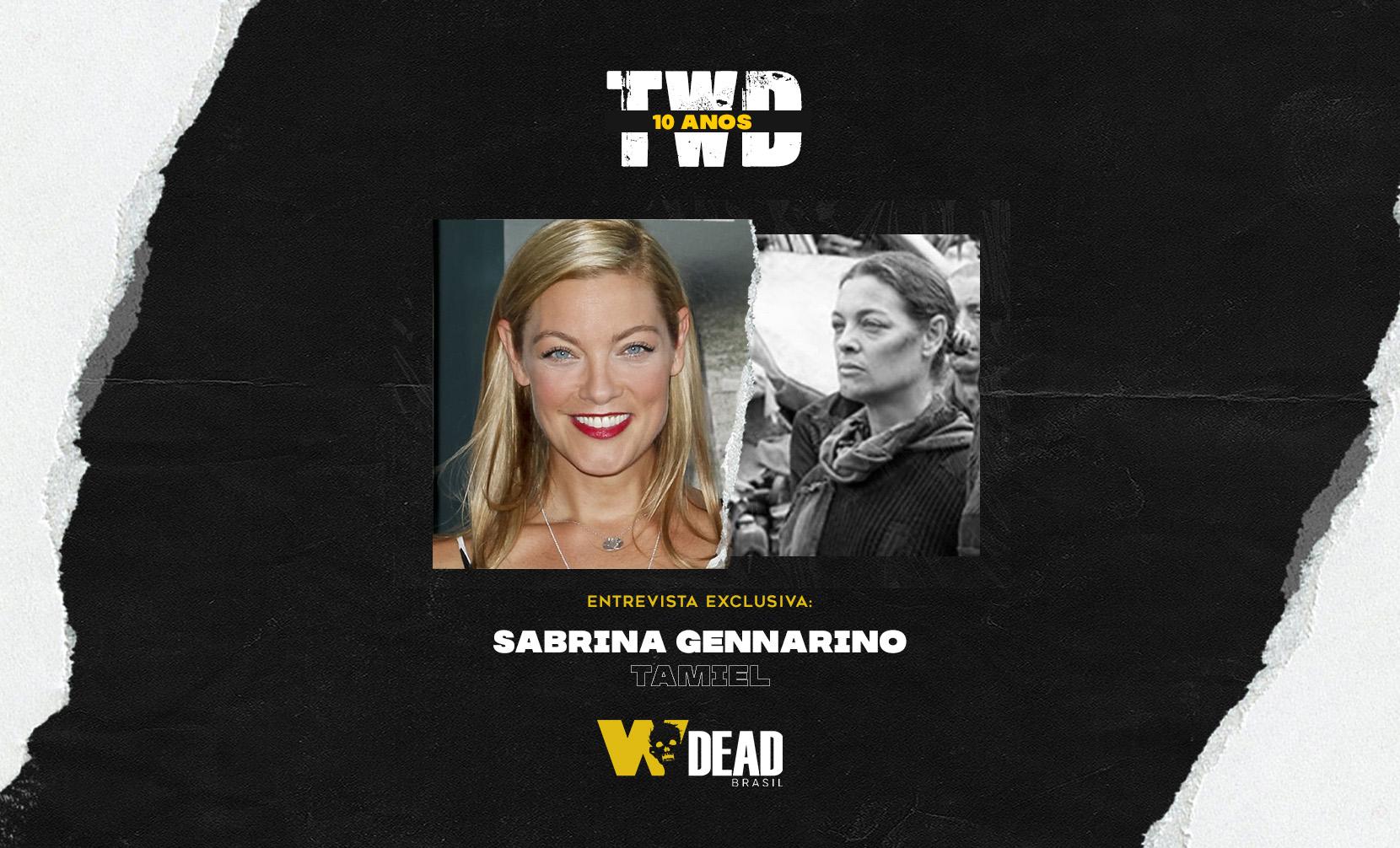 arte com Sabrina Gennarino e Tamiel para comemorar os 10 anos de The Walking Dead